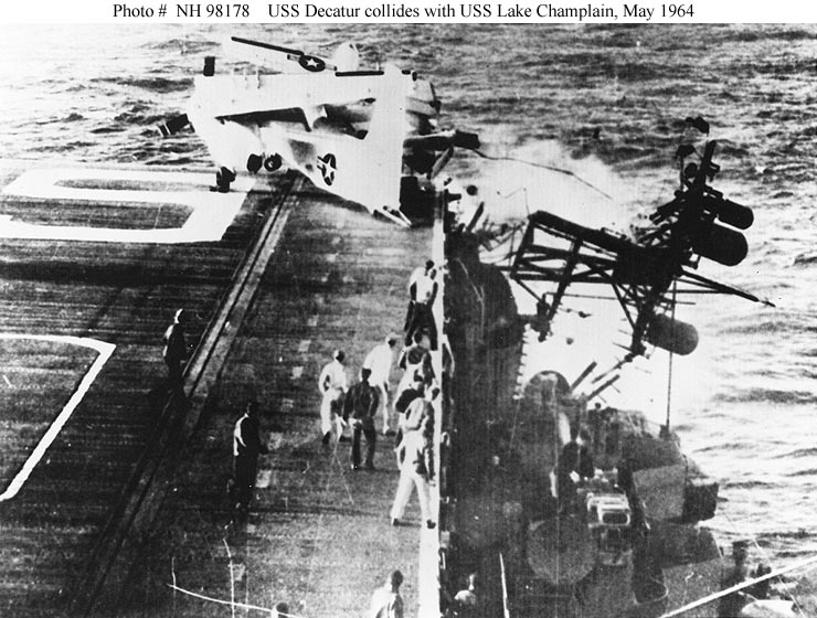 Early morning collision with USS Decatur 1964...