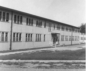 "Typical barracks at USNTC Bainbridge, MD,  Radioman ""A"" School"