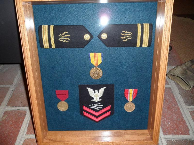 insignia and awards shadowbox